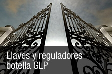 Llaves y reguladores botella GLP