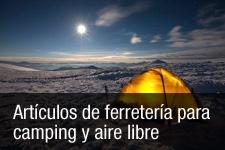 Artículos de ferretería para  camping y aire libre