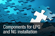 Components for LPG and NG installation