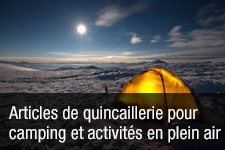 Articles de quincaillerie pour camping et activités en plein air
