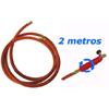 Tubo flexible reforzado de goma 2 metros